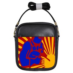 Soviet Robot Worker  Girl s Sling Bag