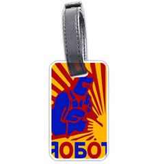 Soviet Robot Worker  Luggage Tag (Two Sides)