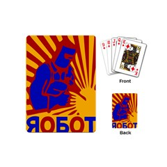Soviet Robot Worker  Playing Cards (Mini)