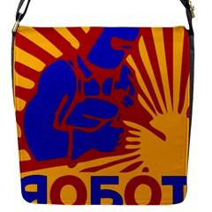 Soviet Robot Worker  Flap closure messenger bag (Small)