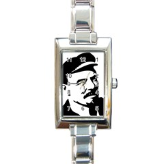 Lenin Portret Rectangular Italian Charm Watch