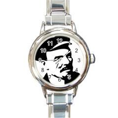 Lenin Portret Round Italian Charm Watch