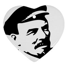 Lenin Portret Heart Ornament