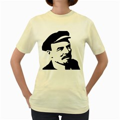Lenin Portret  Womens  T Shirt (yellow)