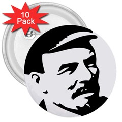 Lenin Portret 3  Button (10 Pack)