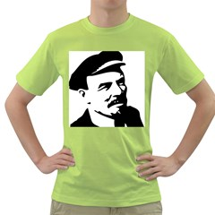 Lenin Portret Mens  T-shirt (Green)