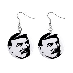 Lenin Portret Mini Button Earrings