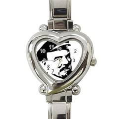 Lenin Portret Heart Italian Charm Watch