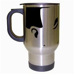Lenin Portret Travel Mug (Silver Gray)