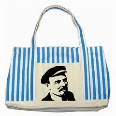 Lenin Portret Blue Striped Tote Bag