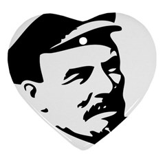 Lenin Portret Heart Ornament (Two Sides)