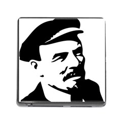 Lenin Portret Memory Card Reader with Storage (Square)