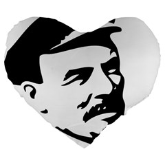 Lenin Portret 19  Premium Heart Shape Cushion