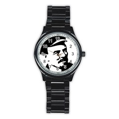 Lenin Portret Sport Metal Watch (black)