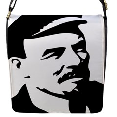 Lenin Portret Flap closure messenger bag (Small)