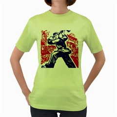 Communist Party Of China Womens  T-shirt (Green)