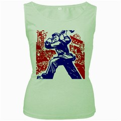 Communist Party Of China Womens  Tank Top (Green)