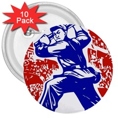 Communist Party Of China 3  Button (10 pack)