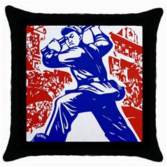 Communist Party Of China Black Throw Pillow Case