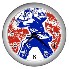 Communist Party Of China Wall Clock (Silver)