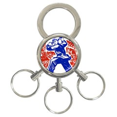 Communist Party Of China 3-Ring Key Chain