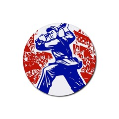 Communist Party Of China Drink Coasters 4 Pack (Round)