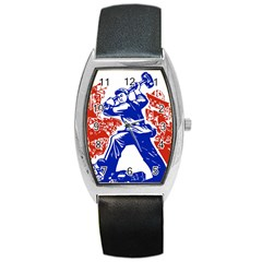 Communist Party Of China Tonneau Leather Watch