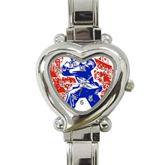 Communist Party Of China Heart Italian Charm Watch
