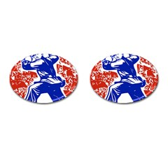 Communist Party Of China Cufflinks (oval)