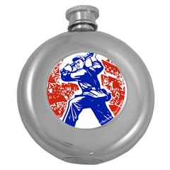 Communist Party Of China Hip Flask (Round)