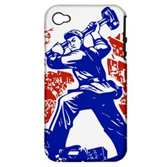 Communist Party Of China Apple Iphone 4/4s Hardshell Case (pc+silicone)