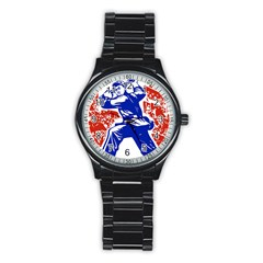 Communist Party Of China Sport Metal Watch (Black)
