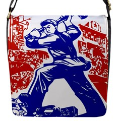 Communist Party Of China Flap closure messenger bag (Small)