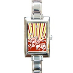 Octobe revolution Rectangular Italian Charm Watch