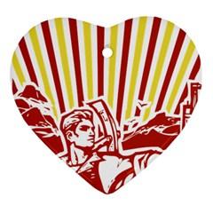 Octobe revolution Heart Ornament