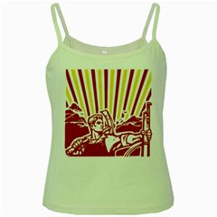 Octobe revolution Green Spaghetti Tank