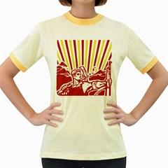 Octobe Revolution Womens  Ringer T Shirt (colored)
