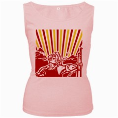 Octobe revolution Womens  Tank Top (Pink)