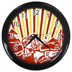 Octobe revolution Wall Clock (Black)