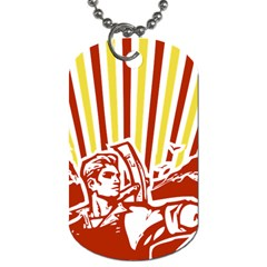 Octobe Revolution Dog Tag (two Sided)