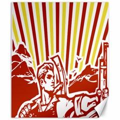 Octobe revolution Canvas 8  x 10  (Unframed)