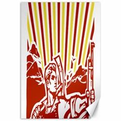 Octobe revolution Canvas 12  x 18  (Unframed)