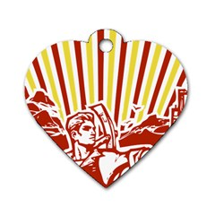 Octobe revolution Dog Tag Heart (One Sided)