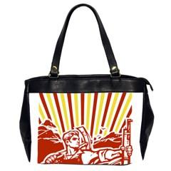 Octobe revolution Oversize Office Handbag (Two Sides)