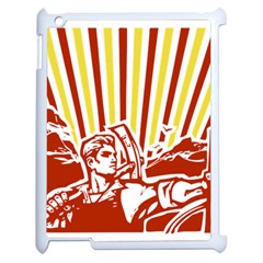 Octobe revolution Apple iPad 2 Case (White)