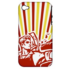 Octobe Revolution Apple Iphone 4/4s Hardshell Case (pc+silicone)