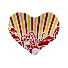 Octobe revolution 16  Premium Heart Shape Cushion