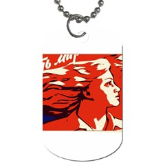 Communist Propaganda He And She  Dog Tag (one Sided)