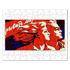 Communist Propaganda He And She  Jigsaw Puzzle (Rectangle)