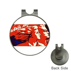 Communist Propaganda He And She  Hat Clip with Golf Ball Marker